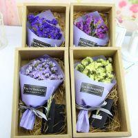 干花礼盒送女友闺蜜生日礼物 永生花装饰礼品厂家批发一件代发