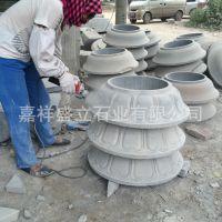 石雕石墩批发仿古雕刻柱墩柱基青石大理石柱顶石建筑摆件石柱础