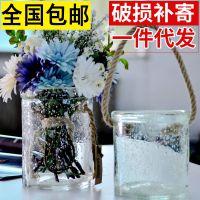 现货热销透明玻璃工艺品套装花瓶挂件创意水培玻璃瓶纯手工制作