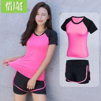 瑜伽服套装女跑步运动健身房两件套装健身服宽松显瘦短裤秋冬厚款