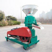 噪音小寿命长饲料颗粒机 时产300公斤颗粒饲料机