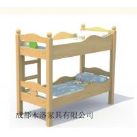 宜宾/攀枝花幼儿园实木推拉床定做 成都木洛欢迎代理代销