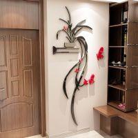 吊兰3d立体水晶墙贴画客厅房间墙壁贴纸自粘玄关卧室内墙面装饰品