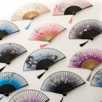 jSH乌镇特产蓝印花布工艺小扇子 折扇女式 中国风旅游纪念品礼物