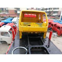 天津客户订购的原厂双排东风多利卡驾驶室空壳及车车架发货