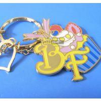 创意韩版钥匙扣挂件 镀金珐琅吊牌 动漫周边钥匙扣