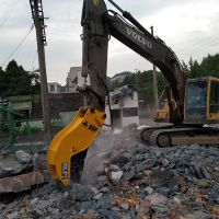 粉碎钳 厂房梁柱建筑拆除用 采用高硬度轻质钢材 挖机属具液压钳