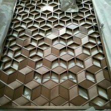 定制加工不锈钢屏风,隔断,铝雕花格,镀钛,镀古铜。