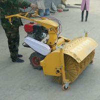 大马力自走式扫雪机 圣鲁手扶滚刷式清扫机