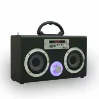 MiniG17可爱礼品无线蓝牙音箱木质FM插卡TFUSB便携式手提音箱工厂供应