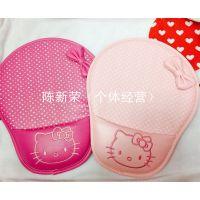 hello kitty鼠标垫卡通蝴蝶结仿皮沙发式护腕鼠标垫