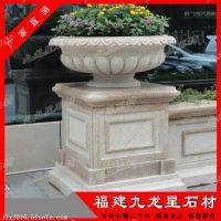 花钵生产厂家 石材花盆雕塑 欧式石雕花钵