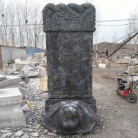 定制青石乌龟驮石碑 功德碑 大理石刻字石碑园林雕塑