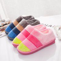 棉可爱女男士厚底情侣秋冬季居家居韩版室内包跟冬天毛毛可爱拖鞋