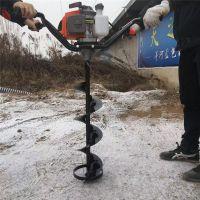 果园施肥钻眼挖坑机价格 普航牌手提式钻地机 拖拉机挖坑机厂家
