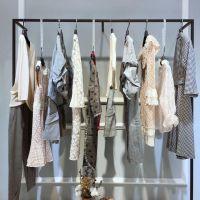 轩之韩女装19夏轻欧风品牌女装折扣货源哪里有女装精品折扣连衣裙专卖店