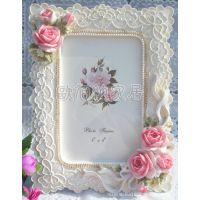 优质货源一件起小额混批6寸玫瑰田园树脂相框相架像框结婚礼物