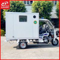 广州出口供应正三轮摩托车汽油三轮车全封闭燃油正三轮车