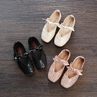 儿童皮鞋2018秋新款韩版女童公主鞋中小童学生软底百搭休闲单鞋