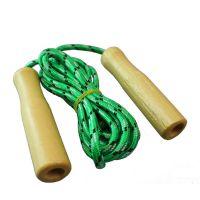 厂家批发 运动休闲器材 环保木质木柄跳绳比赛 学生体育用品热卖