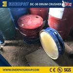 废弃200L涂料桶用油桶压扁机处理