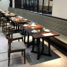 温州工业风餐厅家具定做,时尚主题餐桌椅子组合