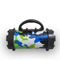 F18无线圆筒蓝牙音箱 Musiccrown迷彩手机支架插卡户外便携式手电筒炮筒音箱