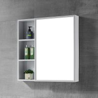 太空铝浴室镜柜挂墙式洗手间卫生间镜子带置物架柜浴室镜储物吊柜