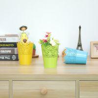 创意田园铁皮桶 铁艺 插花花瓶 花店鲜花桶 花盆 花器铁皮花筒