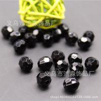 厂家直销亚克力珠子  长形地球珠 切面珠 diy串珠 4-20mm