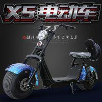 普哈雷宽轮胎电动滑板车双人电瓶车两轮代步摩托车锂电踏板车男女