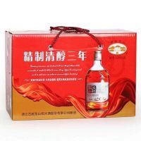古越龙山清纯三年黄酒精制6瓶整箱杭州代理商批发