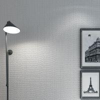 纯色素色现代简约无纺布墙纸 门店酒店装修工程浅灰色蓝色墙纸