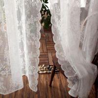 成品韩式公主窗帘儿童风清新白色窗纱蕾丝卧室窗帘布飘窗窗帘