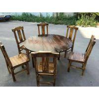 厂家生产供应 实木家具成套餐桌椅 时尚休闲实木餐桌椅