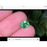 矿区直供优质彩色宝石供货商沙弗来石晶体品质1.19克拉保真销售鉴定证书
