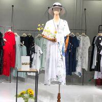 欧莱华2019夏季新款大码连衣裙欧美风格品牌折扣女装专柜朗文斯汀