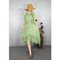 杭州女装批发市场 炒色缎连衣裙 九天国际大厦 女装批发 挑款 多种款式