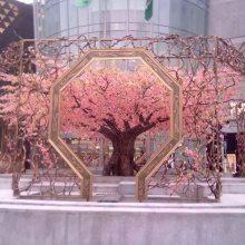 仿真樱花树桃花装饰仿真植物假树大型客厅酒店装饰