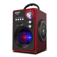 302户外手提音箱带蓝牙收音插卡迷你便携式木质充电晨练广场音箱