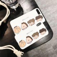 我们这一家 可爱卡通日系搞怪头像表情iPhoneX手机壳磨砂软保护套