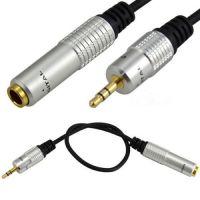 0.3米金属立体声6.35母转3.5公音频转接线 6.35转3.5 耳机转接线