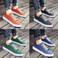 夏季男鞋帆布鞋男韩版潮流低帮板鞋夏天透气休闲鞋系带男生布鞋子