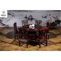 实木古典中式圆台,富贵祥和圆桌,酸枝木家具,古典家具,东阳红木家具厂