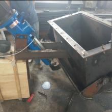 高效率腭式卸灰阀  电液动推杆鄂式闸门 DEZ鄂式阀价格厂家图片