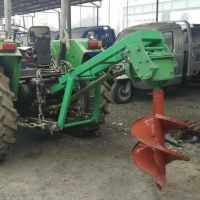 四轮车带刨坑机 硬土用大马力挖穴机 宇晨车载式植树挖坑机