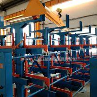 福州伸缩式悬臂货架材质 放钢材用的货架 管材存放架