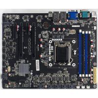 Intel八代千兆双网口25SATA接口4PCIE扩展6COM网络唤醒IPFS储存矿机工控主板