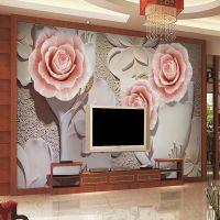 8d立体墙纸电视背景墙 卧室客厅壁画大型无缝墙布简约现代卧室温