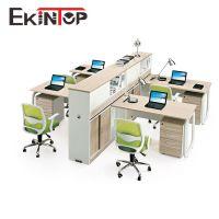 四人位职员屏风组合电脑桌 员工办公桌 板式便捷安装办公家具